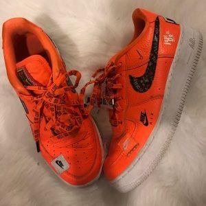 Orange Nike Air Force one